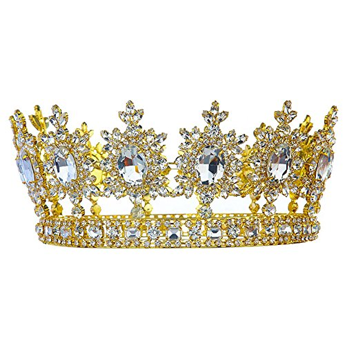 Men's Pageant Imperial Tiara Full Circle Round Gold