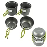 G4Free Outdoor Camping pan Hiking Cookware Backpacking...