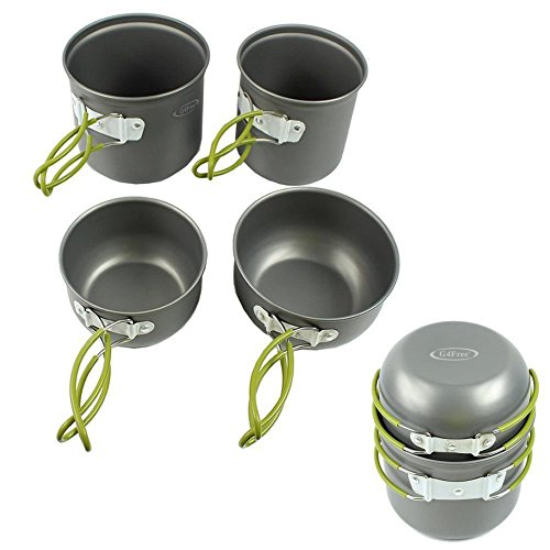 G4Free-Outdoor-Camping-pan-Hiking-Cookware-Backpacking-Cooking-Picnic-Bowl-Pot-Pan-Set-413-Piece-Camping-Cookware-Mess-Kit-Knife-Spoon