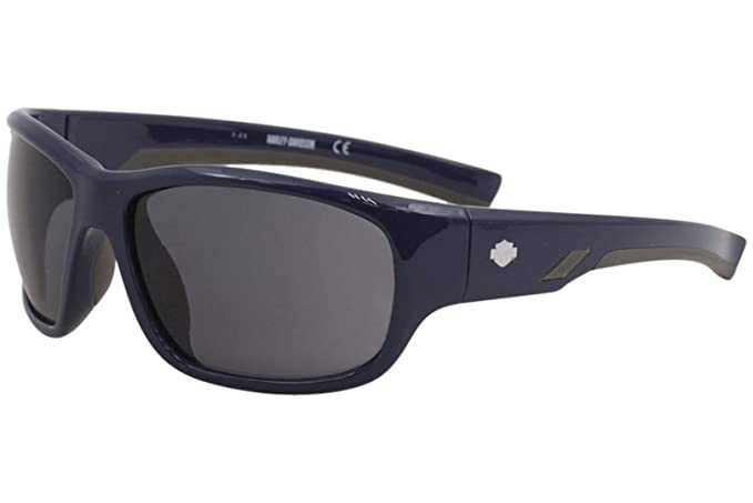 38a09732cdd Harley Davidson HD0902X Sunglasses 90A Shiny Blue 62-16-130  Amazon.co.uk   Clothing