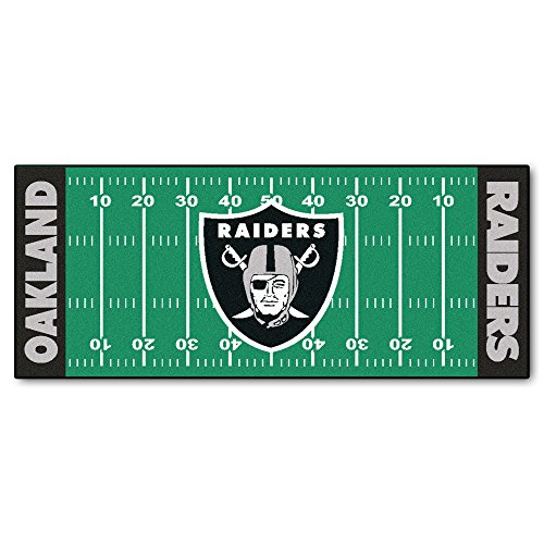 FANMATS NFL Oakland Raiders Nylon Face Football Field ()
