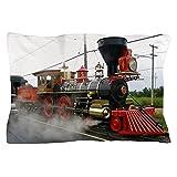 CafePress - Steam Train - Standard Size Pillow Case, 20''x30'' Pillow Cover, Unique Pillow Slip