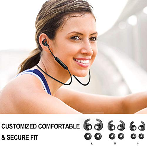Bluetooth Headphones, Akface Wireless Earbuds Sweatproof Sport Earphones w/Mic Bluetooth 5.0 Fast Pairing HD Stereo Noise Canceling Magnetic in-Ear Headsets for Gym Running Workout Men Women Students by akface (Image #3)