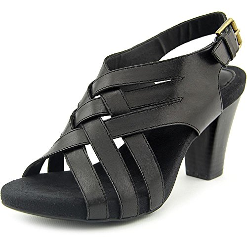 Giani Bernini Justyne Women Open Toe Leather Green Sandals, Black, Size 7.0 by Giani Bernini