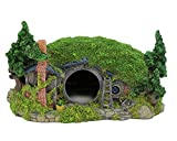 "Hobbit Miniature Hillside Cave Farm House Manor Aquariums Decor 11''L x 8""W x 6''H"
