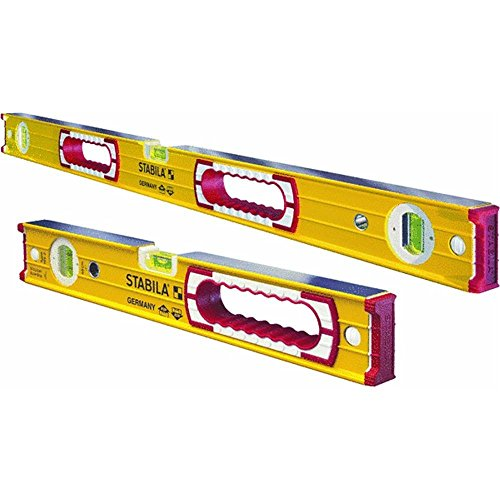 Stabila 37816 48-Inch and 16-Inch Aluminum Box Beam Level Set ()