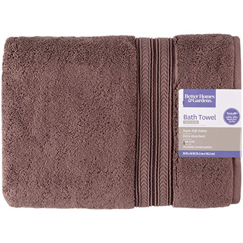 Better Homes and Gardens Thick and Plush Solid Bath Collection,Bath Towel,Brown Basket from Better Homes & Gardens