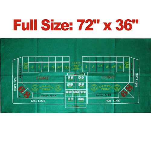 Craps Casino Style Felt Table Layout by TMG