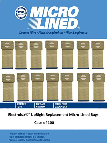 DVC Created Electrolux Upright Micro-Lined Vacuum Cleaner Bags. Case of 100 by DVC Micro-Lined