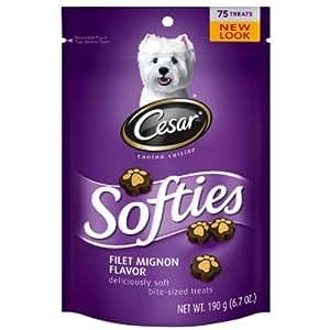 Amazon.com : Cesar Softies Dog Treat - Filet Mignon - 6.7