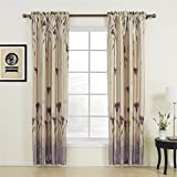 """72"""" W x 84"""" L (One Panel) 20 sizes available Country Rustic Polyester Purple Floral Blackout Curtains Rod Pocket Curtains Window Treatment Draperies & Curtains Panels"""