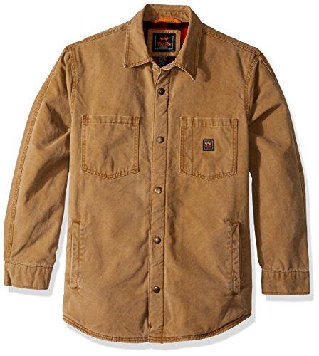 Walls Men's Bandera Vintage Duck Shirt Jacket, Pecan, X-Large