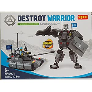 Destroy Warrior Building Blocks 178 Pcs Set Compatible With Other Major Brand Brick Sets Best Toy for Boys and Girls Grate Gift