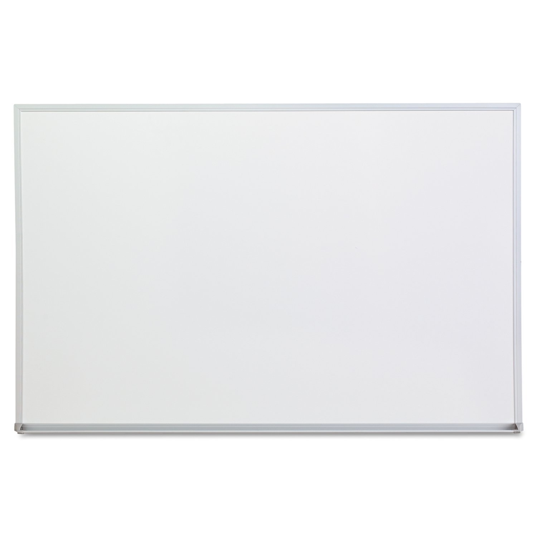Universal Melamine Dry Erase Board, 36 X 24 Inches Satin-Finished Aluminum (43623)