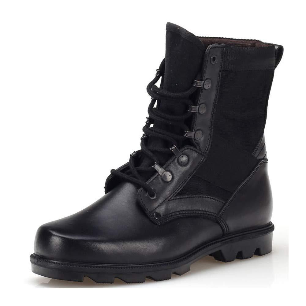 AHELMET Mann Hohe Stiefel Echtes Leder Outdoor Kampfstiefel Männliche Und Weibliche Militärische Schuhe Arbeit Wandern Anti-Slip