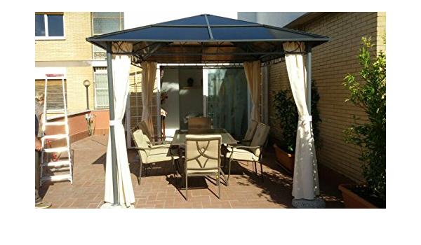 Cenador de 3 x 3, 60 con techo de policarbonato: Amazon.es ...