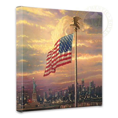 Thomas Kinkade - Gallery Wrapped Canvas , The Light of Freedom , 14