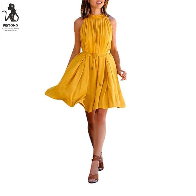 2018 Hot Sale    Sleeveless Dress   New Fashion Women Summer Dress Beach  Party Casual Dress (M e335937408b6