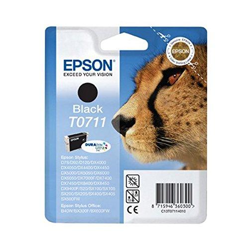 Epson T0711 Tinte Gepard, wisch- und wasserfeste (Singlepack) schwarz