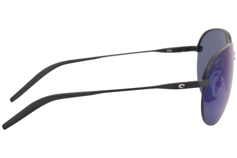 Costa Helo Sunglasses Matte Black Frame-Blue Mirror 580 Poly Polarized Lenses Costa Del Mar