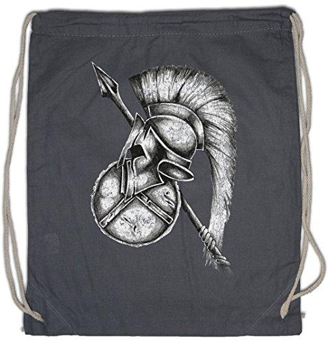 SPARTAN GEAR Drawstring Bag Gym Sack Sparta Spartans Spartaner Spartiaten Schild Speer Helm Shield Spear Helmet Leonidas 300