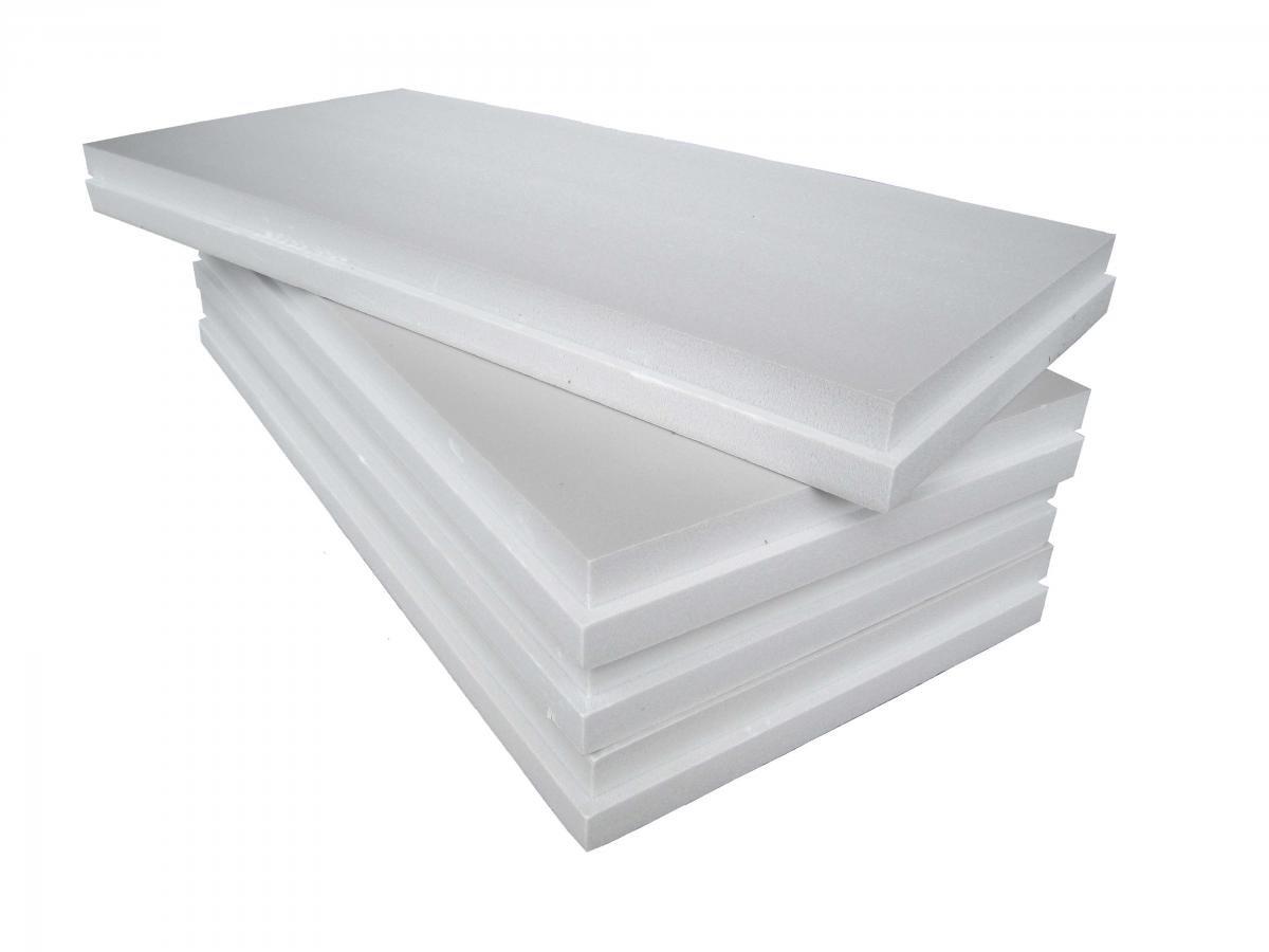 Polystyrène Panneaux en PSE100blancPolystyrène expansé fritté avec épaisseur 3cm pour isolation thermique de poutres, piliers ou système de manteau thermique, blanc ISOLKAPPA
