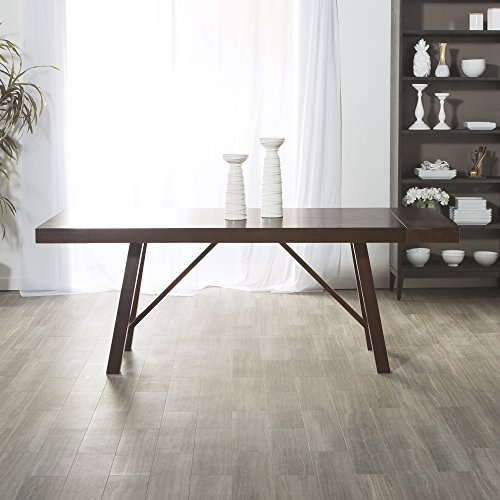 WE Furniture Solid Wood Trestle Dining Table, 60