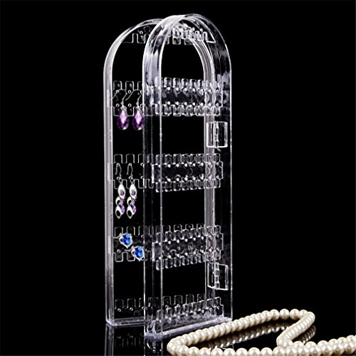 Jewelry Display Acrylic Clear Holder 120 Hole Cosmetic Organizer Storage Makeup Case Cabinet Box Jewelry Display Holder by UJKCKW JCSD (Image #1)