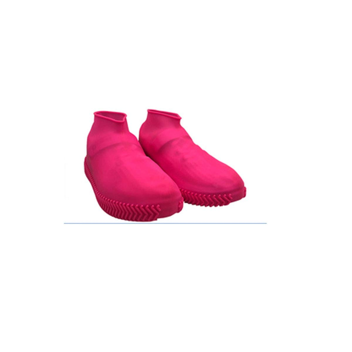 WUHUIZHENJINGXIAOBU Waterproof Shoe Cover, rain-Proof Water-Like Rubber wear-Resistant Shoe Bag, Free to Choose from a Variety of Colors Shoe Covers That can be Worn on Rainy Days, (Color : Pink-L)