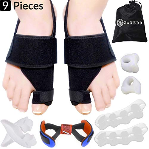 Bunion Corrector & Bunion Relief Kit, Bunion Splint, Big Toe Corrector Straightener Brace, Toe Separators Spacers Straighteners, Hammer Toe, Hallux Valgus, Toe Joint Pain Relief Aid for Men & Women