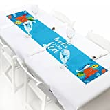 Big Dot of Happiness Under The Sea Critters - Petite Baby Shower or Birthday Party Paper Table Runner - 12'' x 60''