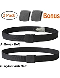 Nylon Military Tactical Men Belt 2 Pack Webbing Canvas...