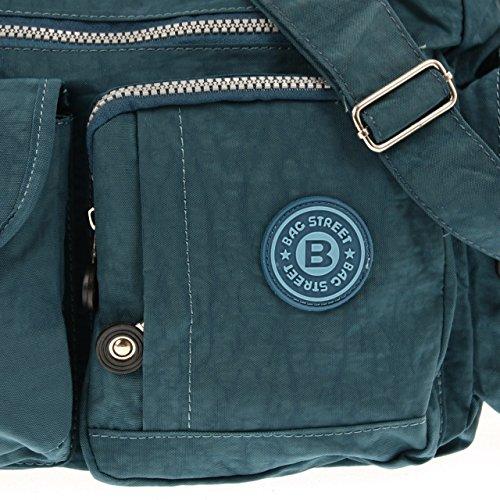 Bleu en corps sac bleu Bag à Bleu près street nylon bandoulière sac du qwB0P85w