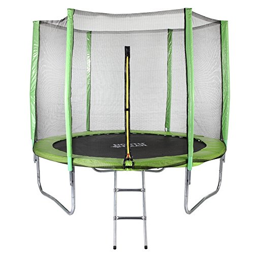 North Gear 8 Foot Trampoline Set with Safety Enclosure and Ladder by North Gear