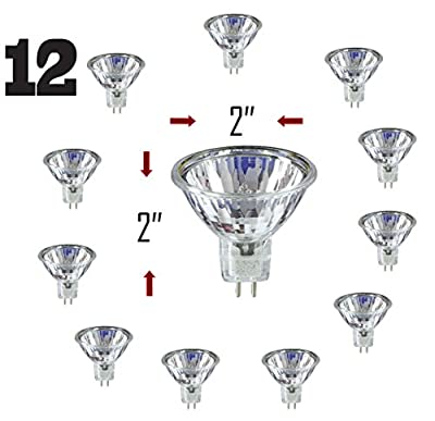 SleekLighting MR16, 20 Watt, 12V, Light Bulb Spotlight, Recessed, Track Lighting. 2700K (12 Pack)