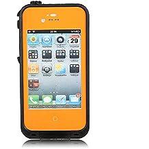 iPhone 4 / 4s Waterproof Shockproof Dustproof Hybrid Bumper Case (Orange)