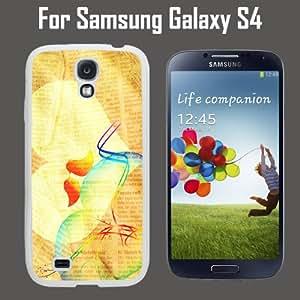 Romance Bird Heart Custom Case/ Cover/Skin *NEW* Case for Samsung Galaxy S4 - White - Rubber Case (Ships from CA) Custom Protective Case , Design Case-ATT Verizon T-mobile Sprint ,Friendly Packaging - Slim Case
