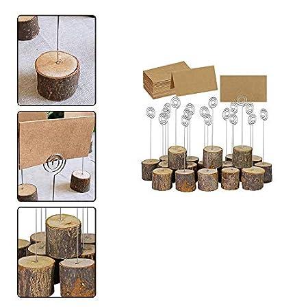 10pcs Memo Clip Portafotos Portanotas de Toc/ón Soporte para Tarjetas de Mesa Titular de N/úmero y Foto Chytaii