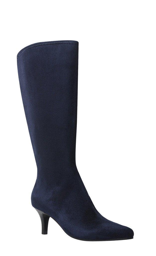 Impo noland Dess Stretch Boot B074XH3G96 6 B(M) US|Midnight Blue Faux Suedy Stretch