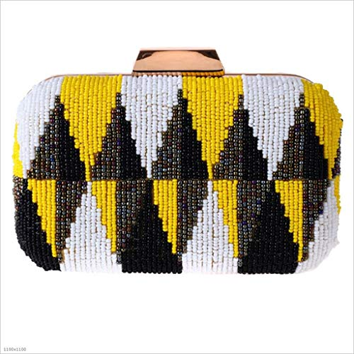 Casual Ricamo Da Quadrata Borsa High Americano Colore Delle Europeo end Piccola blue Portatile Yellow E Sera Di Donne XqwIBIPxF