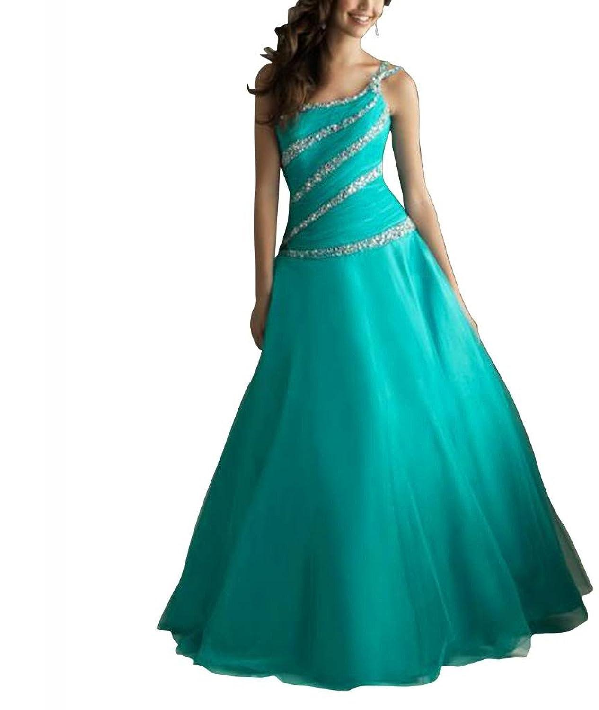 GEORGE BRIDE Beaded One Shoulder Floor Length Prom Dress/Party Dress