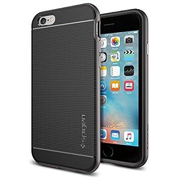 spigen Funda iPhone 6s, Carcasa [Neo Hybrid] Protección Interna Flexible y Marco de Parachoques Duro Reforzado para el iPhone 6S / iPhone 6, Gunmetal