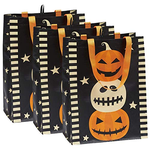 DII Cotton Halloween Holiday Candy Tote Gift Bag, 15x16x4