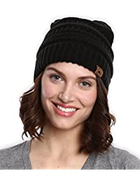 Cable Knit Beanie - Thick, Soft & Warm Chunky Beanie Hats...