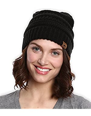 Chunky Cable Knit Beanie by Tough Headwear - Thick, Soft & Warm Beanie Hats for Women & Men - Serious Beanies...