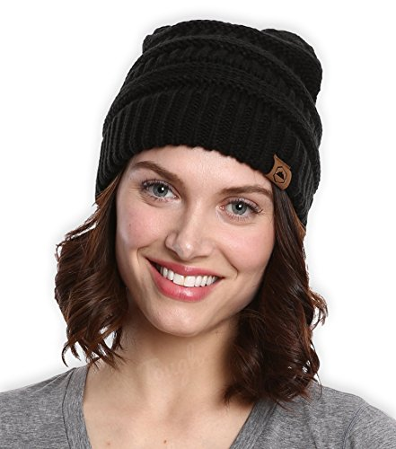 Cable Knit Beanie by Tough Headwear – Thick, Soft & Warm Chunky Beanie Hats for Women & Men – Serious Beanies for Serious Style