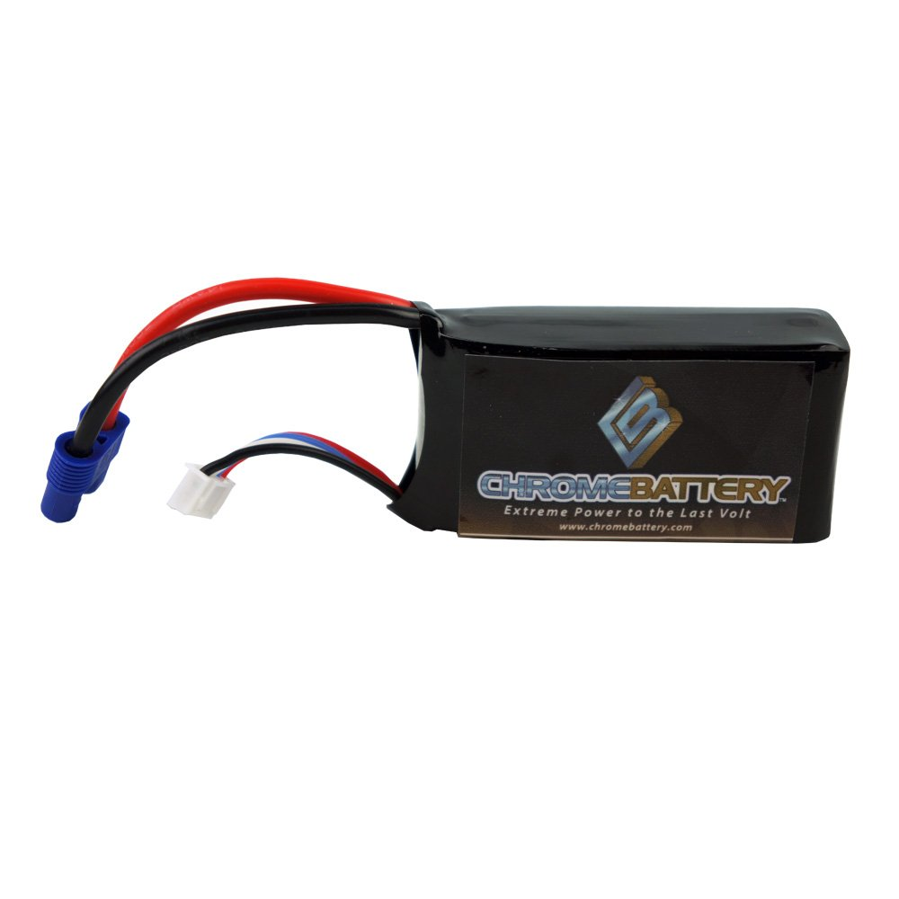 Chrome Battery 31261 11.1V 3 Cell / 3S 2200mAh 25C LIPO Battery w/ EC3 Connector