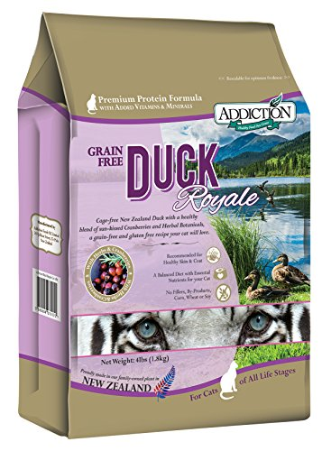 New Zealand Beef Lamb (Addiction Duck Royale Grain Free Dry Cat Food, 4 lb.)