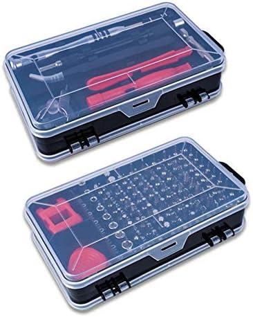 多機能ツールキット 112-IN-1時計携帯電話分解ツールドライバーツールセット多機能クロームバナジウム鋼スクリュードライバーセットブラックを修復 修理キット 収納ケース (Color : Black, Size : 157x90x52mm)