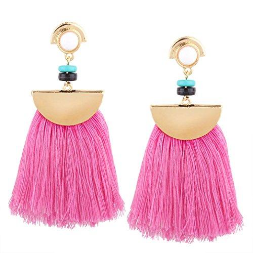 Women Earring Fashion, Paymenow 2018 Girls Fan Shape Tassel Drop Earrings Retro Beaded Stud Earrings Eardrop Jewelry -
